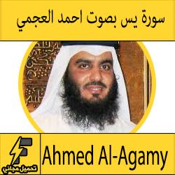 تحميل سورة يس بصوت احمد العجمي mp3
