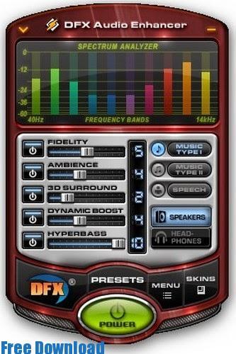 تحميل برنامج رفع وتحسين صوت الكمبيوتر 2015 مجانا DFX Audio Enhancer