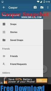 تحميل برنامج كاسبر سناب شات المشاهير Casper Snapchat APK