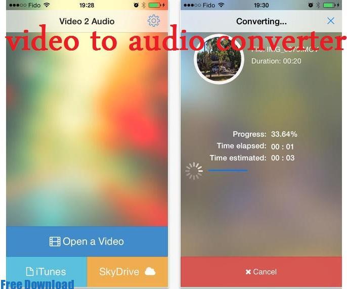 تحميل برنامج تحويل الفيديو الى mp3 للايفون
